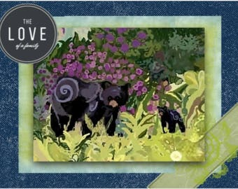 """Note card: Based on my original watercolor """"Bear Encounter"""", Paper & Party Supplies, Art and Collectibles, Stationary, Art, Wildlife, Bears"""
