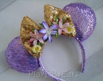 """Rapunzel """"Tangled"""" Handmade Custom Mouse Ears inspired by Disney"""