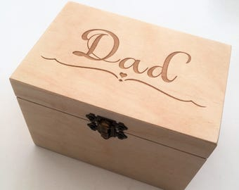 Personalised Dad gift//Father's Day/Nana/Grandad/Granny&Grandpa Gift/ Birthday/Memories, trinkets and treasures Box