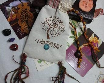 Tarot bag,rune bag,tarot card bag,Oracle card bag,tarot pouch,tree of life pouch,tarot deck bag,divination,tarot holder,tree of life pouch