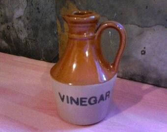 Vintage Glazed Stoneware Vinegar Jug manufactured by Moira Pottery Co. Ltd.
