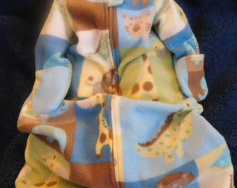 BABY SLEEP SACK -- Fleece with mittens -- Large only -----