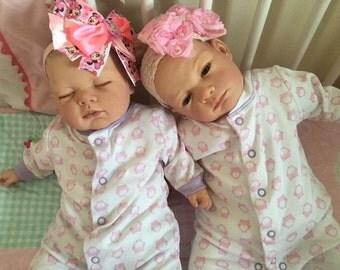Reborn Twins Lotty And Anna Child Friendly Realistic Newborn Fake Baby Dolls