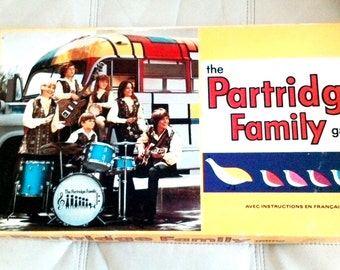 Vintage The PARTRIDGE FAMILY Board Game 1971 Milton Bradley complete  English and French