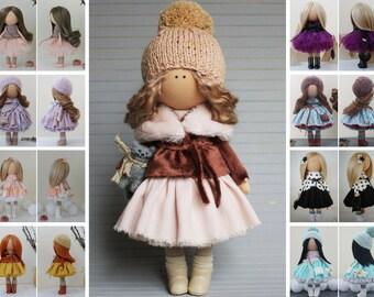 Tilda doll Textile doll Rag doll Fabric doll Nursery doll Unique doll Handmade doll Peach doll Art doll Baby doll Soft doll by Margarita
