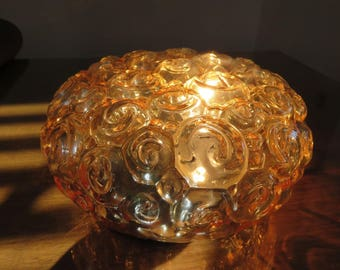 "wall or ceiling light ""bubble"" glass lamp gold mid century 1960 1970 60's 70's golden bubble glass vintage during lamp sconce wall lamp"
