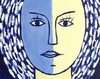 Bereginya. Guardian. Portrait, face. A woman's image. Goddess.