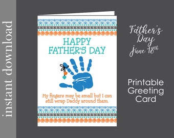 Father's Day card, printable card, new father card, funny dad card, printable father's day, card download, card for dad, card from wife