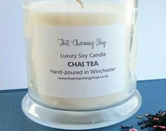 SALE - Chai Tea Candle - Chai Tea Scented Candle - Chai Tea Soy Candle - Chai Tea Candle - Chai Candle - Candle Sale - End of Line