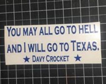 Crocket Decal Texas