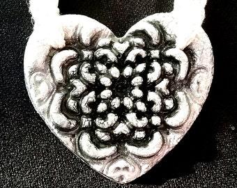Clay Heart Hemp Necklace