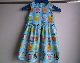 Farm animal sounds dress