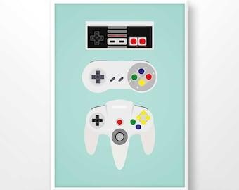 Nintendo Wall Art nintendo controller | etsy