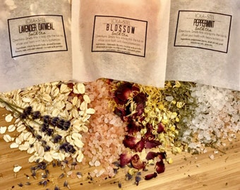 Bath Tea, Relaxing Soak, Sea Salt Soak, Coconut Milk Soak, Lavender Soak, Stress Relief Soak, Bath Soak, Bath Salts, Detox Soak