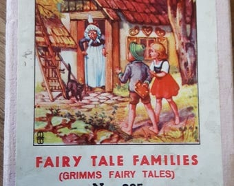 Beautiful Illustrated Vintage Grimms Fairy Tale Families Card Game