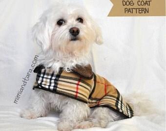 Dog Coat Pattern size XS, Sewing Pattern, Dog Clothes Pattern