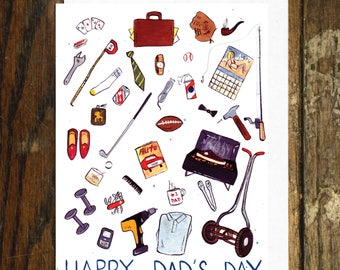 Tiny Things Dad's Day Greeting Card
