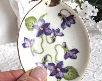 Porcelain Boudoir Ashtray, Trinket Dish, Cottage Chic Decor, Ring Dish, Vintage Porcelain Ashtray, Vanity Tray Decor, Boudoir Decor