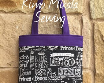 Black, White, and Purple Bible Carrier
