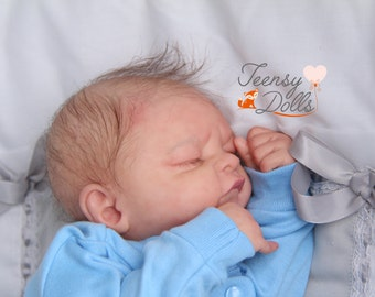 Cooper Leon, Reborn baby,  Preemie baby, Micro-rooted, Lifelike doll, Reborn Doll, Dakota kit, doll for sale.