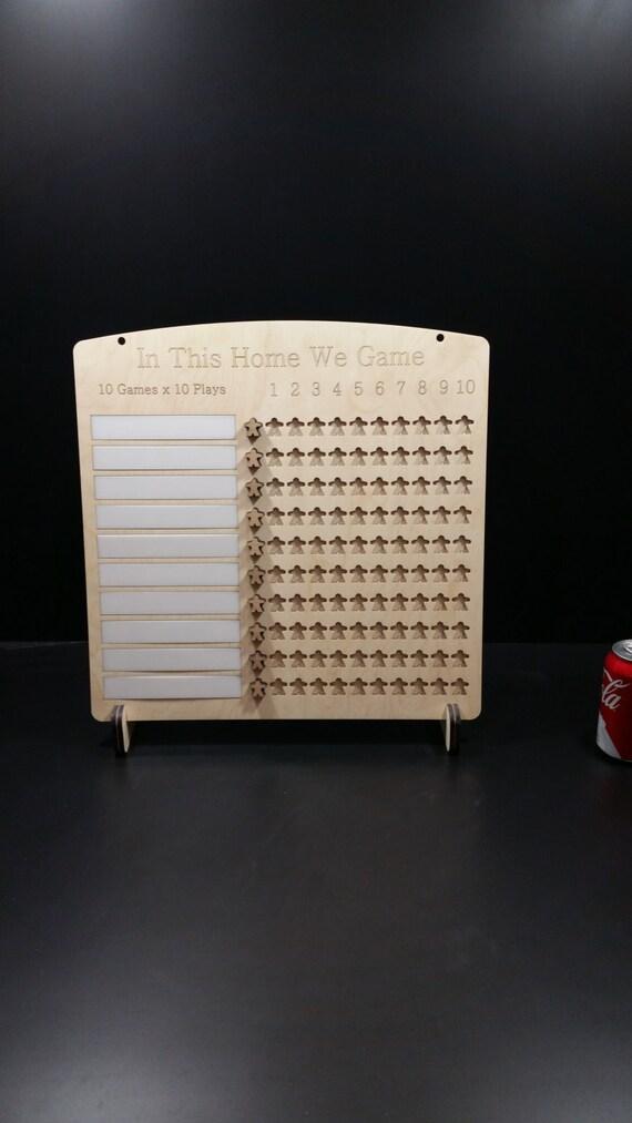10 x 10 Board Game Challenge Plaque