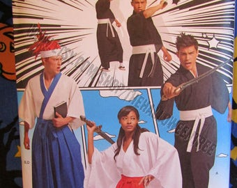 Simpliciy 8318 Hakama Pants Sewing Pattern Misses', Men's and Teen's Samurai, Kimono, Unisex Cosplay Costumes, includes Plus Sizes
