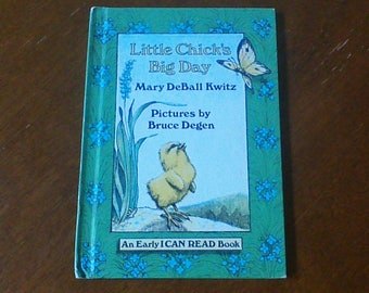 Little Chick's Big Day Vintage Hardcover Children's Book By Mary DeBall Kwitz Weekly Reader Books An Early I Can Read Book First Edition