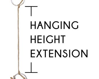 Hanging Height Extension Add-On for Hanging Planters