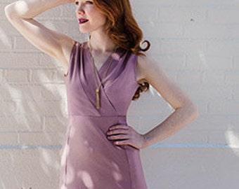 Wren-Colette Patterns-Dress Pattern-Wrap Dress-Wrap Dress Pattern-Knee Length Dress-Maxi Length Dress-Womans Dress Pattern-Paper Pattern