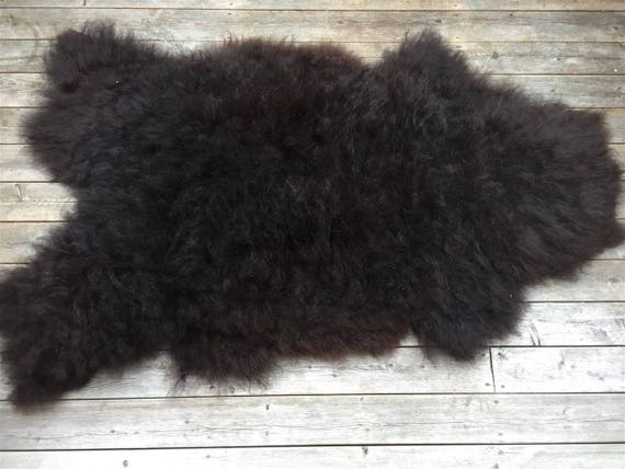 Long haired, soft and large sheepskin rug. 17076