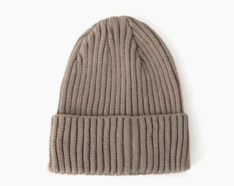 Coffee Cream Chic Beanie Hat