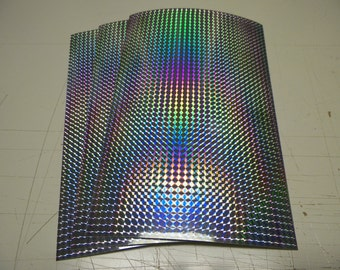 "Vinyl self adhesive silver prism,1/4"" mosaic(2 sheets)8"" x 12"" x 3mil thick"