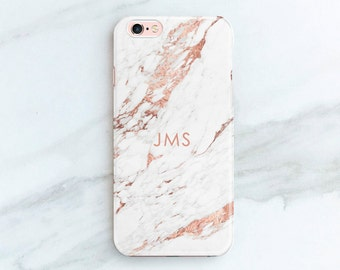 Personalized Gift iPhone 8 Plus Case Rose Marble iPhone 7 Case iPhone X, iPhone 6S Plus Custom Phone Cases Gift Ideas for Women, Her