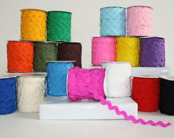 Ric Rac 10MM - 25 Yard Roll - CLEARANCE!! Limited Colors & Quantities!
