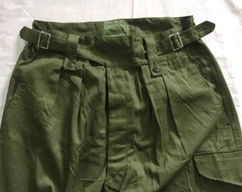 RARE Vintage 60s Australian British Army Gurkha Trousers Broadarrow Nigel Cabourn Deadstock Condition