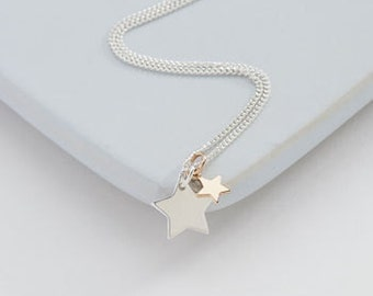 Two Stars Necklace