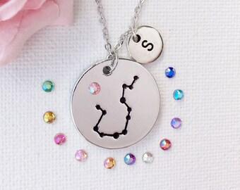 Aquarius zodiac necklace, Aquarius necklace, Aquarius gift, Aquarius jewellery, Aquarius personalised, Aquarius personalized, SPCRYAQUAR1