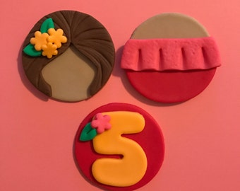 12 Elena of Avalor Cupcake Toppers-Fondant
