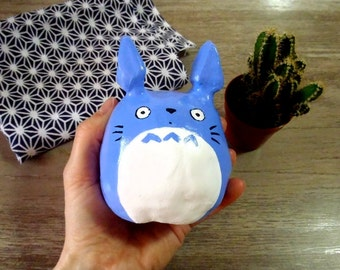 Kyoto Totoro - Painted and varnished argile sculpture