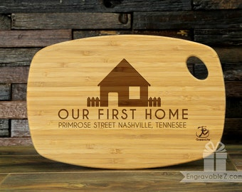 Custom Bamboo Cutting Board - Our First Home