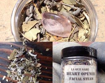 Heart Opener Facial Steam, Herbal Steam Bath, Botanical Steam, Heart Chakra Opener, Chakra Herb Steam, Herb Facial, Deep pore Clearing