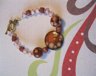 Hand made Bracelet - brown tones