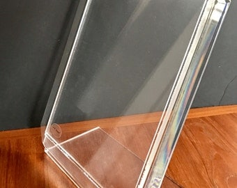 Mid Century Lucite Picture Frame / Display