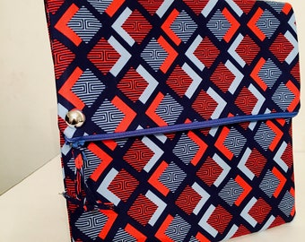 Large fold over clutch handmade accessory.