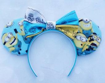 Minion themed Mickey ears
