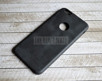 FREE SHIPPING - Black iPhone 6s Plus Ultra Slim Leather Case