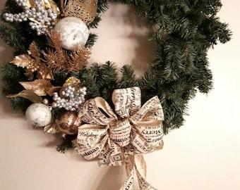 Holiday wreath, Christmas wreath, evergreen wreath