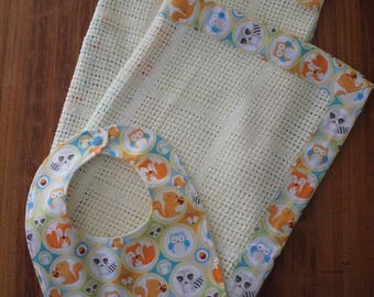 Cotton Blanket & Bib Set