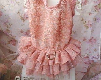 Pink Lace Dog Dress