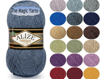 Alize Superlana Classic- wool yarn, knitting wool yarn, crochet wool yarn, winter yarn, wool blend yarn, wool , acrylic yarn, sport weight